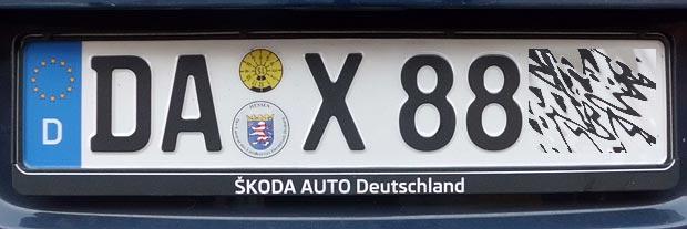 Autokennzeichen Düsseldorf