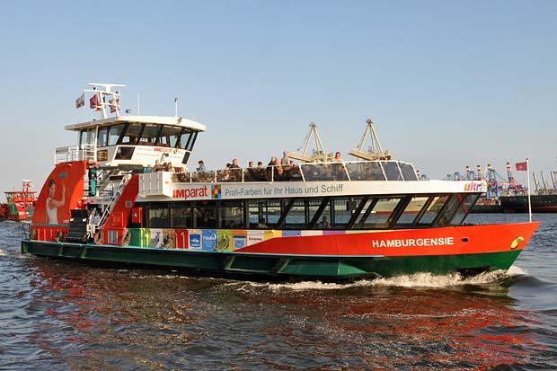 Ein weiteres «Bügeleisen» im Hamburger Hafen :: wolkenmond